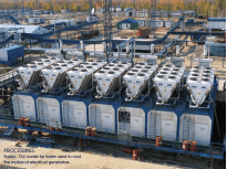 Russia - Cooling installation - Dry coolers for water used to cool the motors of electrical generators