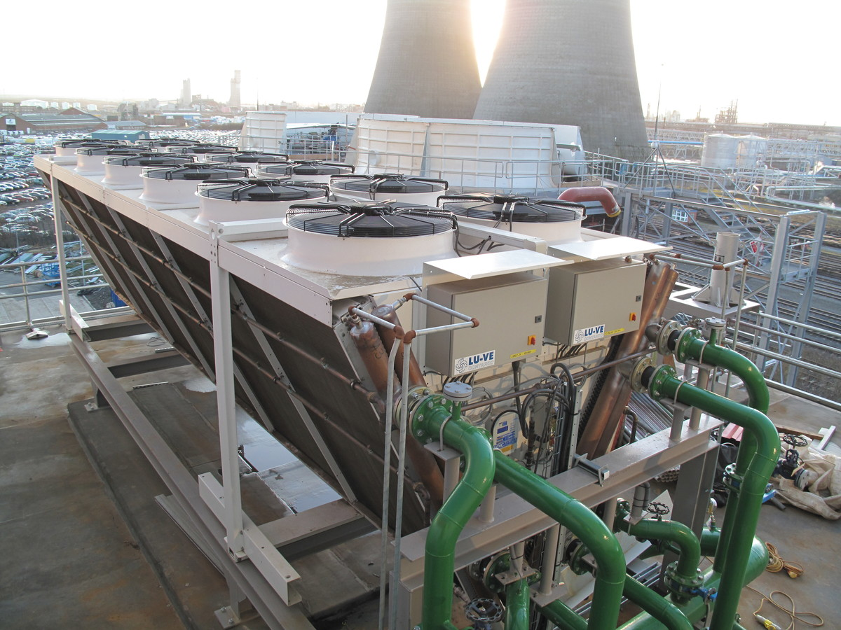 Steam turbine water cooler,  North East England - EHLD1N 2267E EC Fans + WS System.