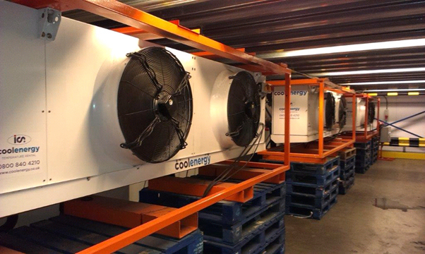 CS62W 2206 E6G Rental Cooling Fleet - Chilled warehouse at ferry terminal in Portsmouth