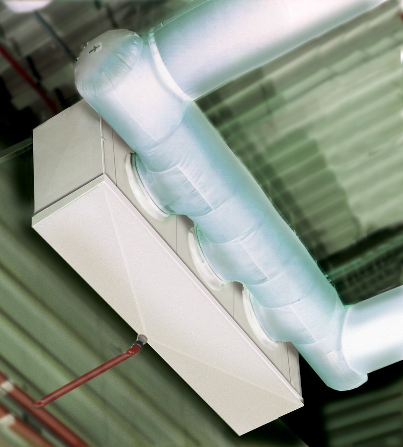 Industrial unit cooler for textile duct application
