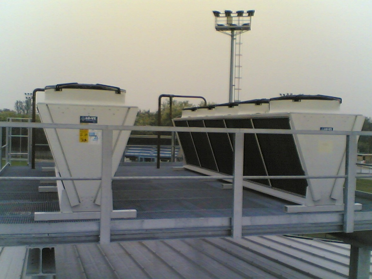 SDHV air cooled condenser installation - Rome - Italy