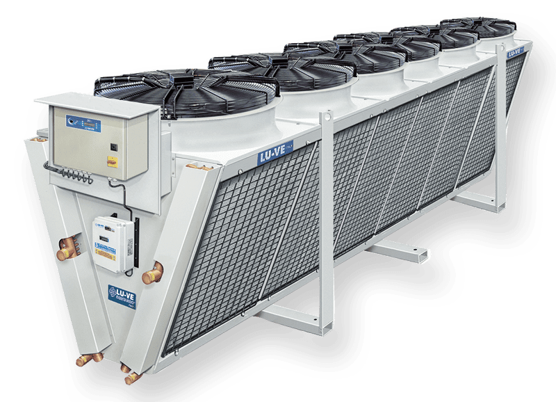 Air cooled condensers XDHV with single fan-row V-coil