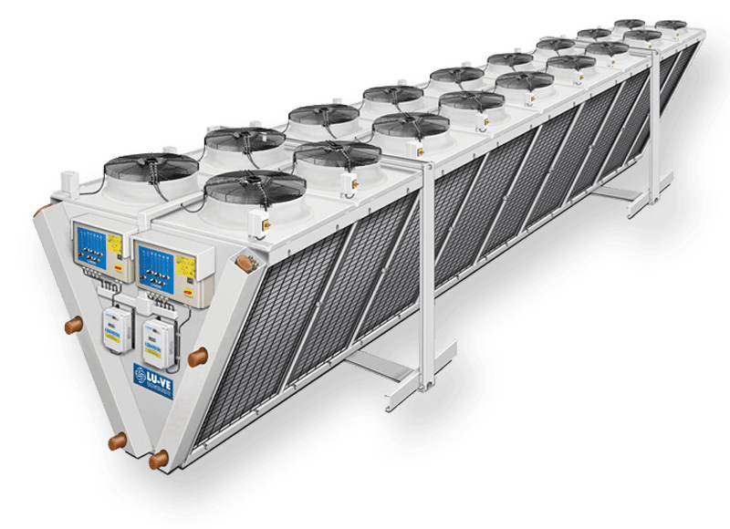 Air cooled condenser EHVD with double fan-row V-coil